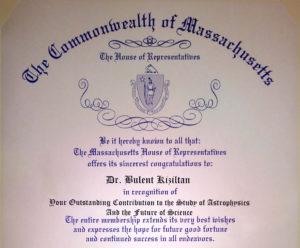 MA State Recognition Bulent Kiziltan